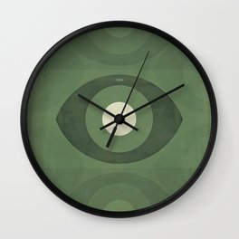 George Orwell Nineteen Eighty-Four - Minimalist literary design, bookish gift Wall Clock