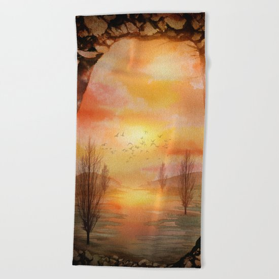 Calling The Sun XX Beach Towel