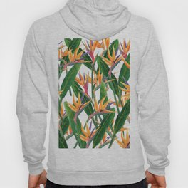 bird of paradise pattern Hoody