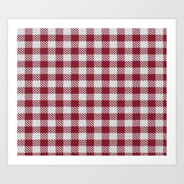 Antique Ruby Bufalo Plaid Art Print