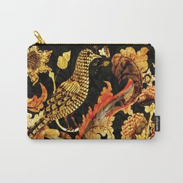 Golden Bird Pietra Dura Carry-All Pouch