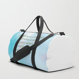 Do Not Be Anxious, Philippians 4:6 Duffle Bag