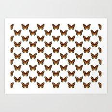 Monarch Butterfly Pattern Art Print