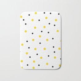 Seamless Black Yellow Dots Pattern Bath Mat