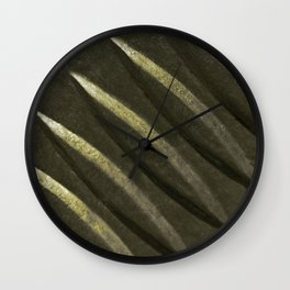 Dark Green Metal Plate Wall Clock