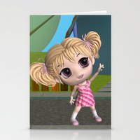 chibi Stationery Cards featuring Chibi Girl by ChibiGirl