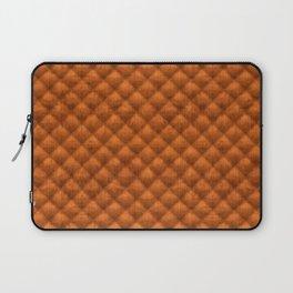 Quilted Pumpkin Orange Faux Suede Laptop Sleeve