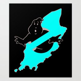 Ghostbusters Isle of Man Art Print
