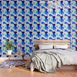 Blue abstract pattern Wallpaper