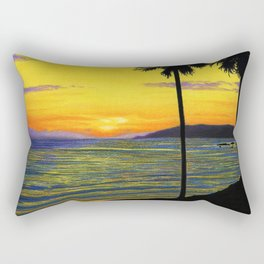 Pismo Beach, California- Sunset Rectangular Pillow