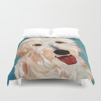 floyd Duvet Covers featuring Our Dog Floyd by Barking Dog Creations Studio