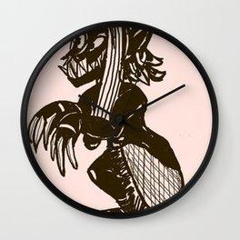 Female Winter Elf Wall Clock