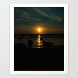 Sunset in Vung Tau Art Print