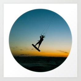 """LAUNCH""  kitesurf . kite . surf Art Print"
