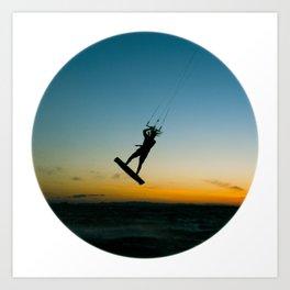 """""""LAUNCH""""  kitesurf . kite . surf Art Print"""