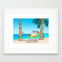 jamaica Framed Art Prints featuring jamaica chicken  by GUNGA