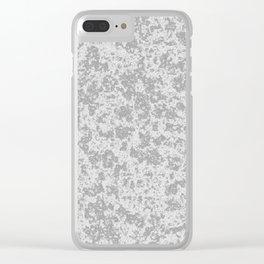 Rough Concrete Clear iPhone Case