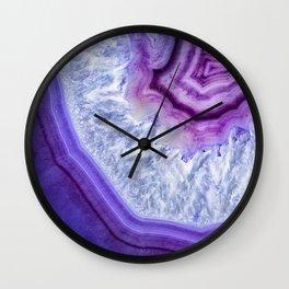 Shades of purple Agate 3110 Wall Clock