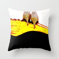 heels Throw Pillows featuring Vintage Heels by Time After Time