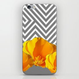 ABSTRACT CONTEMPORARY YELLOW POPPIES PATTERNS iPhone Skin