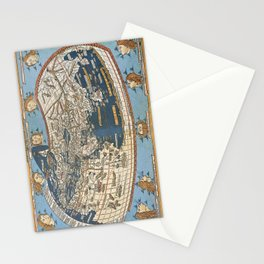 World map 1492 Stationery Cards