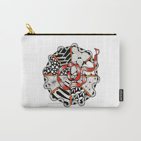 Its Your Birthday- Zentangle Illustration Carry-All Pouch