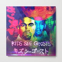 KIDS SEE GHOST---ARTWORK Metal Print