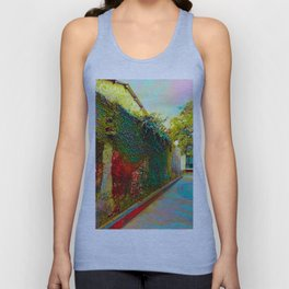Old wall of the ancient city Unisex Tank Top