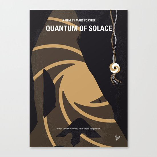 No277-007-2 My Quantum of Solace minimal movie poster Canvas Print
