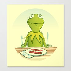 Kermit Loves Facon Canvas Print