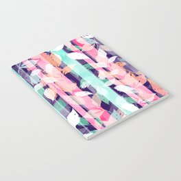 Cute Violet foliage brush paint design Notebook