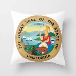 Seal of the State of California Throw Pillow