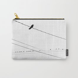 Birds on a wire in the winter Carry-All Pouch