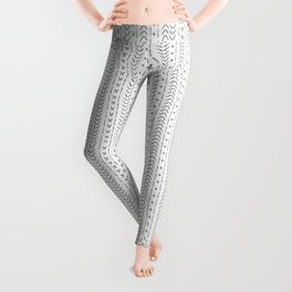 White and gray boho pattern Leggings