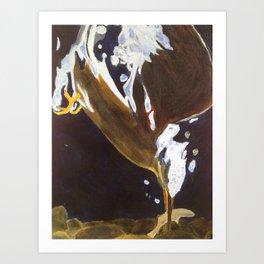 Kingfisher Dive Art Print