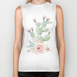 Cactus 3 White #society6 #buyart Biker Tank