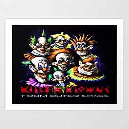 Clowns From Space Art Print