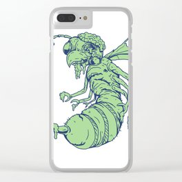 Zombie Bee Cartoon Clear iPhone Case
