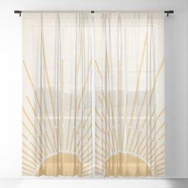 Sun #5 Yellow Sheer Curtain