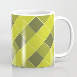 PLAID, OLIVE AND CHARTREUSE Coffee Mug