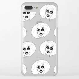 Beautiful Spooky Stupid Clear iPhone Case