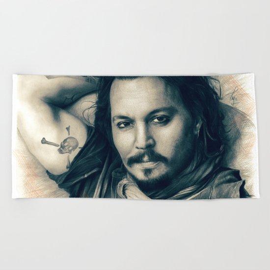 Johnny Depp II. Beach Towel
