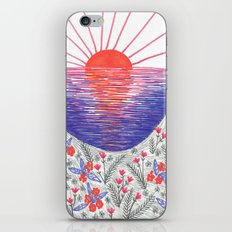 Cliff Top Sunset iPhone & iPod Skin