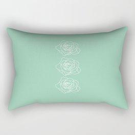 Rose Vert Claire Rectangular Pillow
