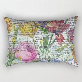 Flowery Prose Rectangular Pillow