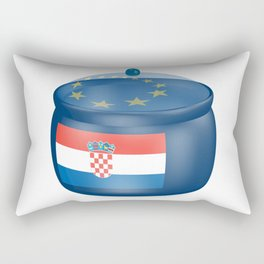 Flag of Croatia. Saucepan with a translucent cover. The symbol of the European Union. Rectangular Pillow
