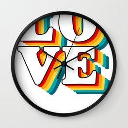 Love Retro Love Vintage Design Wall Clock