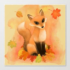Fall Fox Canvas Print
