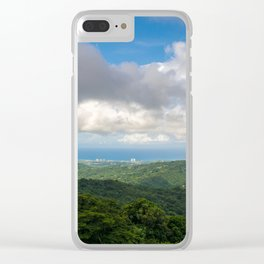 P El Yunque National Forest Rain forest Puerto Rico Clear iPhone Case