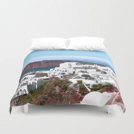 Santorini island, Greece Duvet Cover